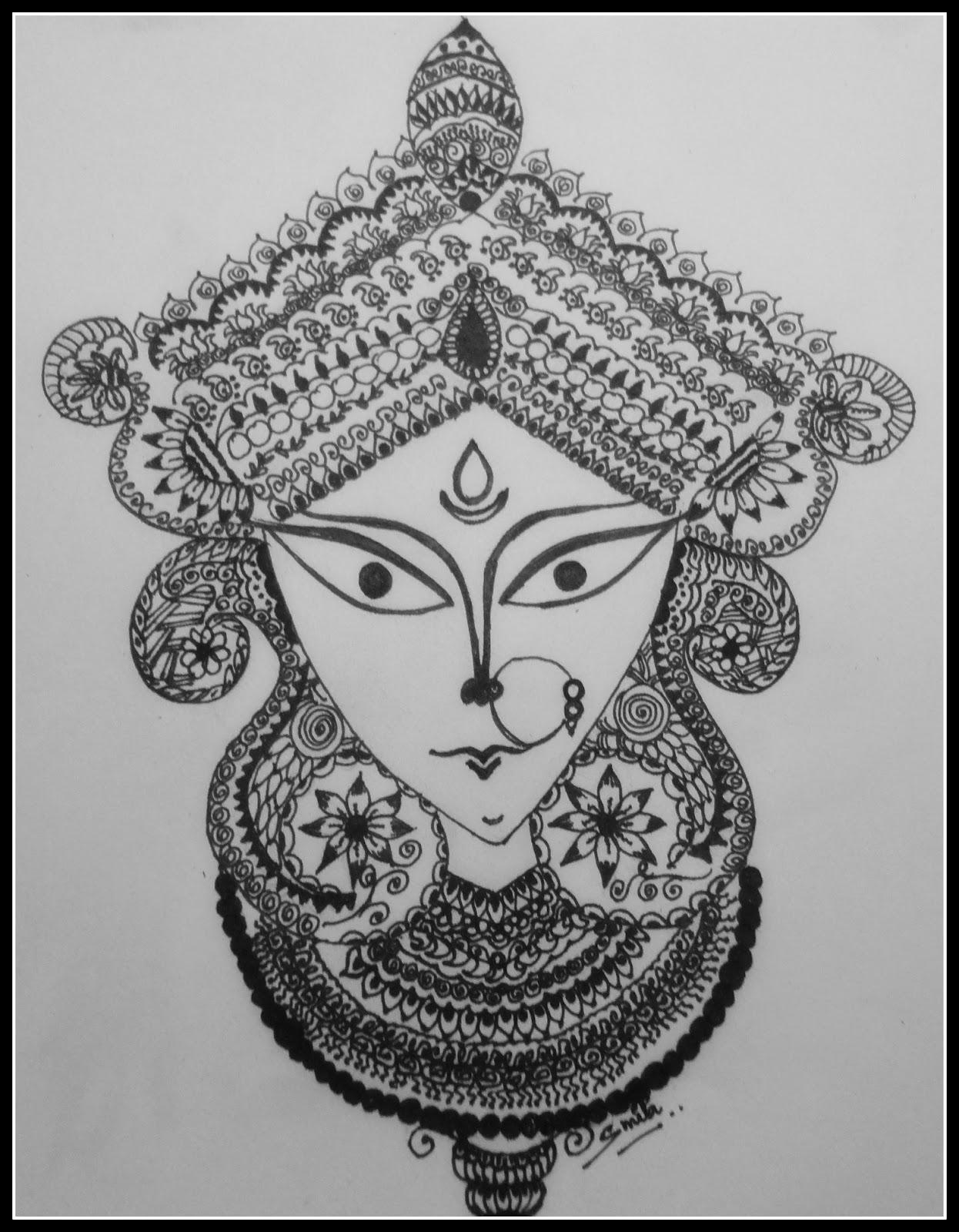 Durga maa sketch studio