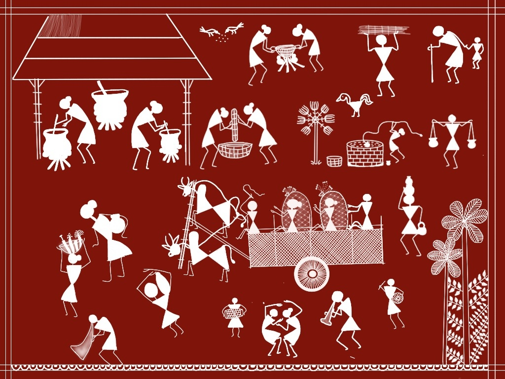 Warli paintings an ancient indian folk art thecheapjerseys Image collections